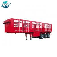 Buy cheap High quality 3 axles 4 Axles side wall Fence Cargo Container semi trailer for sale product