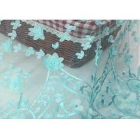 Buy cheap Nigerian Dress Green Lace Fabric With 3d Flower / Lace Dress Fabric For Wedding product