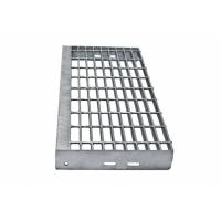 Buy cheap Heavy Galvanized Steel Steps , Exterior Thickness 30x3mm Safety Grating Stair Treads product