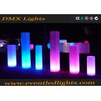 wedding events  decorative lighting multi color pillars