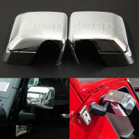 China Jeep Wrangler Rear view mirror cover with mark chrome plated side mirror cover on sale
