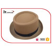 Buy cheap Spring Plain Color Cotton Twill Ladies Trilby Hats With Bland Ribbed Hatband product
