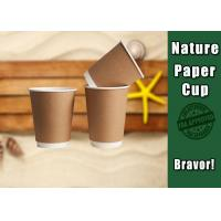Buy cheap Hot / Clod Drink Kraft Paper Cups Customized Printing For Ice Cream product