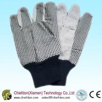 China cotton gloves pvc dots,pvc dotting glove knit wrist on sale
