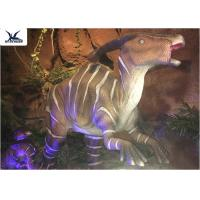 Buy cheap Indoor Decorative Realistic Dinosaur Models With Head Moving Up And Down product