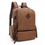 Les sacs élégants de toile épaisse pour les types d'université/ordinateur portable souple mettent en sac avec le côté Porket de tirette