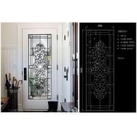 Buy cheap Fashion Tempered Decorative Glass Panels Wood Grain Clear Tinted  Black Patina product