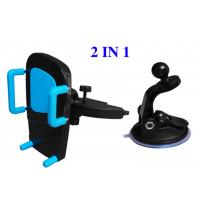 Quality Plastic ABS Vehicle Cell Phone Holder , Automobile CD Slot Mobile Phone Holder for sale