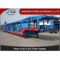 Buy cheap Open Type Tri - Axle Car Carrier Trailer Steel Material Mechanical Suspension product