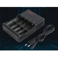 Buy cheap Torch Lamp 4 Bay 18650 Battery Charger With Short Circuit Protector Black Color product