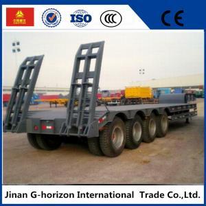 高い積載量の低いベッドの半トレーラー3の車軸60T 7950+1305+1305のmmのホイールベース