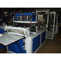 China T-shirt Non-woven Bag Making Machine Production Line With Two Ultrasonic Welder on sale