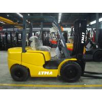 Buy cheap Three Stage Mast 4000kg Fork Lift Trucks , Gasoline Powered Forklift Seat Adjustable product