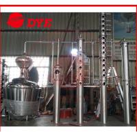 Buy cheap 200L - 5000L Red Copper Alcohol Distiller , Whiskey Distilling Equipment product