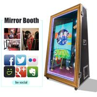 China 65 Inch Infrared Touch Screen Photobooth Mirror 4K Selfie Magic Mirror Photo Booth For Sale on sale