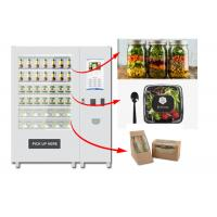 Quality Refrigerated Automatic Fruit Fresh Salad Vending Machine 22 Inch Advertising Screen for sale