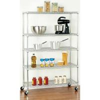 China Common  Canteen Home Wire Shelving / Cooking Utensils Storage Rack on sale