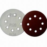 Buy cheap Hook-and-loop Abrasive Discs with Yellow Front, Used for Auto Bodywork and Wooden Surfaces product