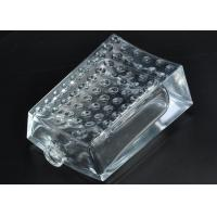 Buy cheap 80ml Rectangle Empty Glass Perfume Bottle hobnail Pattern for Fragrances Packaging from wholesalers
