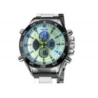 Buy cheap Weide Stainless Steel Mens Military Watches Water Resistant , Japan Movt Watch product