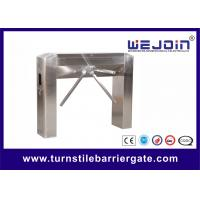 Semi auto tripod entrance turnstiles gate with Mechanism , Arc bridge Type