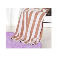China Hotel 100% Cotton Beach Towels , Rectangle Cotton Terry Towel Water Soluble on sale