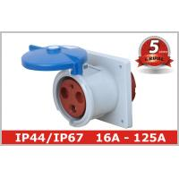 Buy cheap CEE Flanged Industrial Electrical Straight or Angled Flush Mounted Sockets/Receptacle IP44/IP67 Standard16A,32A,63A,125A product