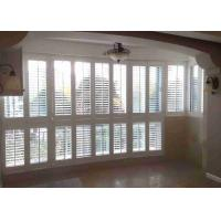 Buy cheap Wooden Window Plantation Shutters  Side Hinged Sunburst Shape For Apartment product