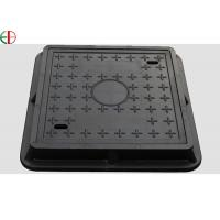 Buy cheap EN124 Class D400 Ductile Cast Iron Manhole Cover With Frame , Custom Size EB13008 product