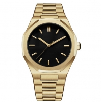 Buy cheap PVD Plated Gold Mens Quartz Stainless Steel Watch 5atm Water Resistant product