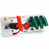 Buy cheap LeaningTech LTC Racing Car 12V LED Toggle Ignition Switch Panel Engine Start Push Button Carbon product