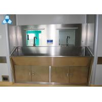 Buy cheap Stainless Steel Hospital Air Filter Hand Basins With Cabinets For 2 Person product