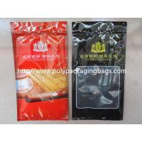 Buy cheap Resealable Plastic Cigar Bags With Humidity Controlled System For Nicaragua Cigars / Dominica Cigars product
