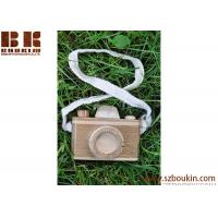 Buy cheap Cute Wooden craft camera for children eco friendly kids wooden mini toy camera product