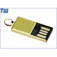 Buy cheap Tiny Delicate Glossy Golden Metal 4GB Flash Drive Free Key Ring product