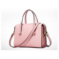 Buy cheap Pink Color Fashion Ladies Handbags , PU handbag with shoulder belt OEM ODM product