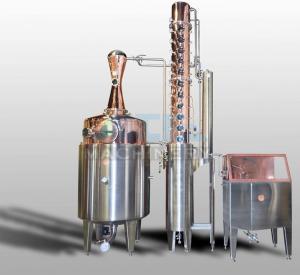 Buy cheap 200L 500L 1000L Red Copper Alcohol Vodka Pot Still Distiller product