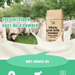 Buy cheap All Ages 25kg Powdered Goat Milk Sterizlied Full Cream product