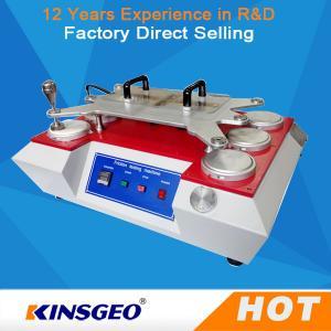 Máquina de testes de matéria têxtil da abrasão de 6 cabeças com os apertos manuais/operação automática
