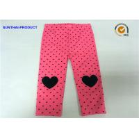 Buy cheap Knee Heart Applique Cute Baby Girl Leggings Heart Printed Lycra Jersey Pant product