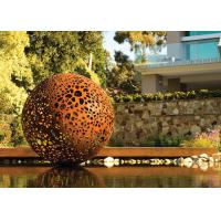 Buy cheap Delicate Corten Steel Carved Hollow Ball Sculpture For Garden Decoration from wholesalers