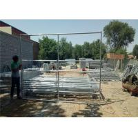 8'Hx6'W 5 Rail Farm Gate Fence Four Sides Welded For Safe SGS Certificated