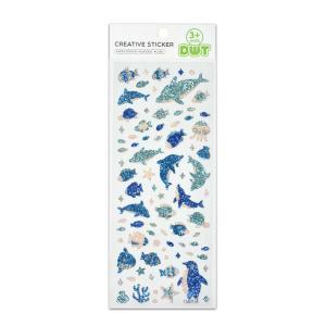 Buy cheap Dolphin And Penguin Sea Fish Glitter Vinyl Stickers Kawaii Small Design 60 pcs DIY Decoration product