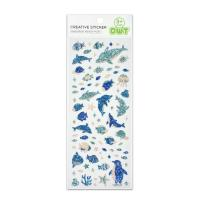 Buy cheap Dolphin And Penguin Sea Fish Glitter Vinyl Stickers Kawaii Small Design 60 pcs from wholesalers