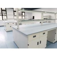 Buy cheap Monolithic Epoxy Resin Laboratory Table Tops 25mm Thickness Grey Color product