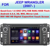 China Android 4.4.4 Quad Core Jeep Wrangler In Dash Navigation Stereo 2007+ Multinational Languages on sale