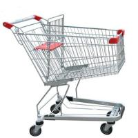 China Unfolding Grocery Store Shopping Carts Four Swivel Wheels Zinc Plated on sale