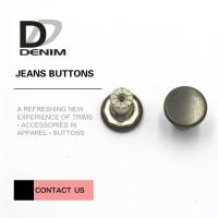 Buy cheap Washable Metal Clothing Buttons Bulk High Class Garment's Accessories product