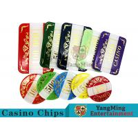 Casino Style Numbered Poker Chip Set Bright Color With Customized Print Logo