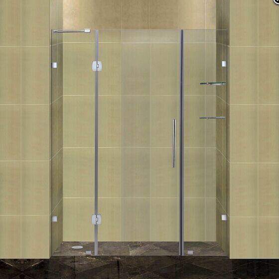 Frameless frame style hinged glass door australian sliding - Wd40 on glass shower doors ...